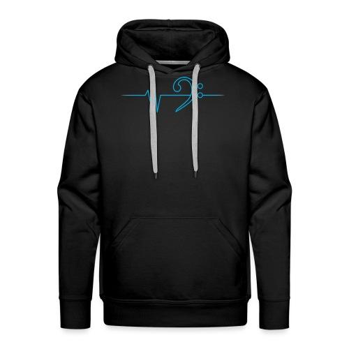 LowHeartBeat cyan - Männer Premium Hoodie