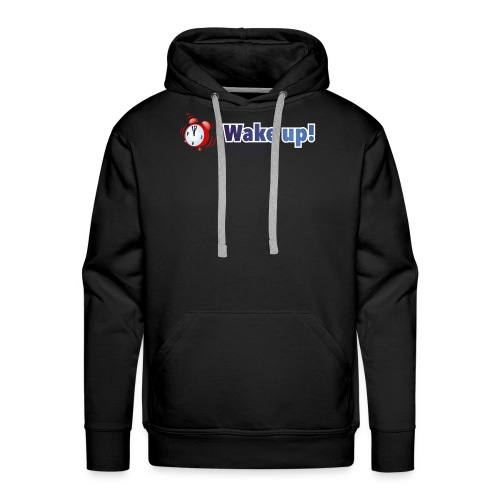 Logo zonder boog blauw - Mannen Premium hoodie