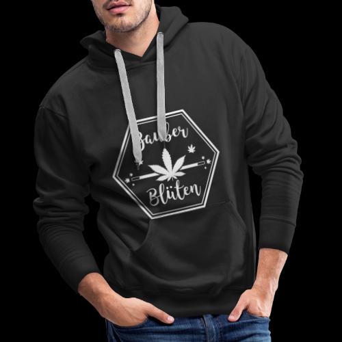 2018 Zauberblueten Logo positiv transparent weiss - Männer Premium Hoodie