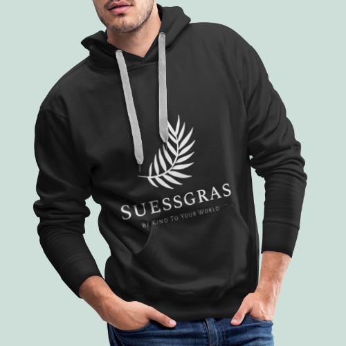SUESSGRAS WHITE LEAF - Männer Premium Hoodie