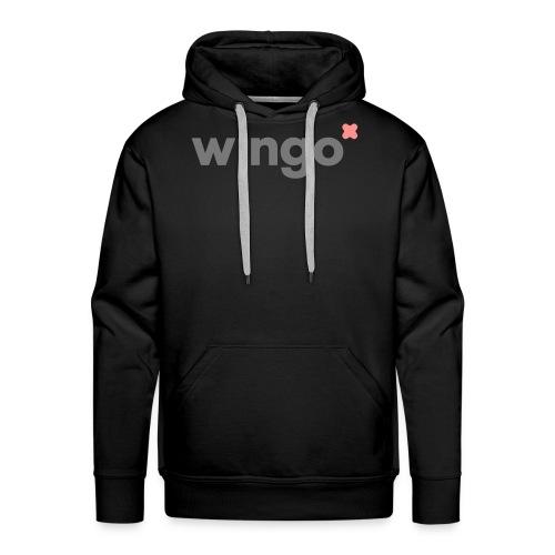 wingo logo 2 col (svg) - Men's Premium Hoodie