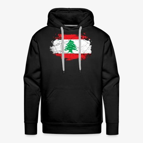 Libanon Libanesische Flagge - Männer Premium Hoodie