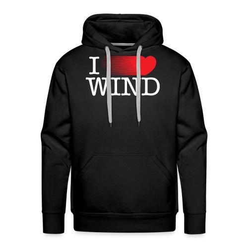 I LOVE WIND Black - Sudadera con capucha premium para hombre