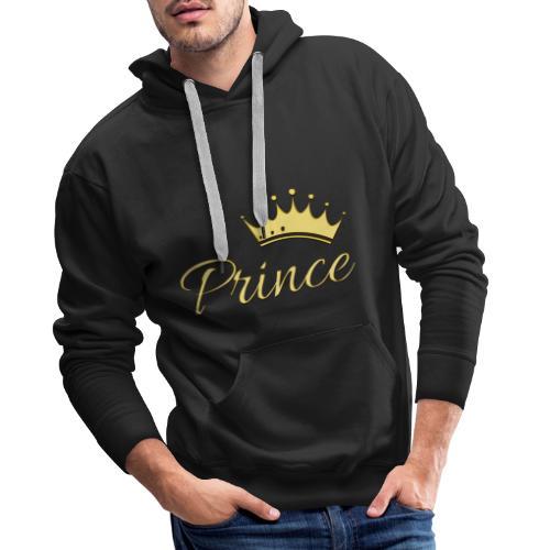 Prince Or -by- T-shirt chic et choc - Sweat-shirt à capuche Premium pour hommes