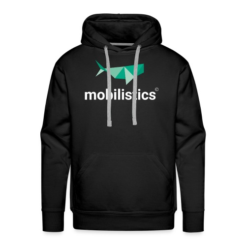 mobilistics logo white - Männer Premium Hoodie