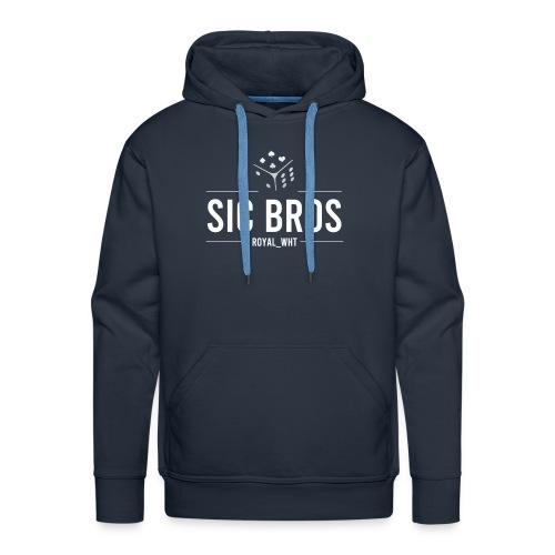 sicbros1 royal wht - Men's Premium Hoodie