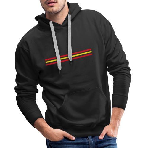 Trait Espagne - version 2 - Sweat-shirt à capuche Premium pour hommes
