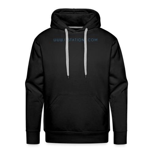 WWW ITSTATIONS COM TEXTE MUGS 2 png - Sweat-shirt à capuche Premium pour hommes