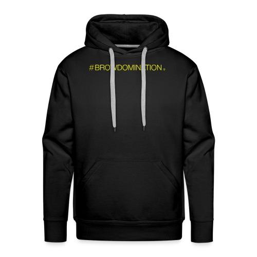 BrowDom Hashtag Neon Yellow - Men's Premium Hoodie