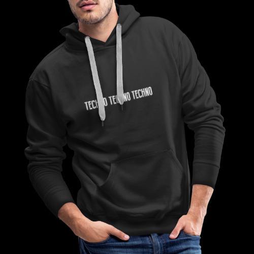 TECHNO TECHNO TECHNO - 2 SIDED - Men's Premium Hoodie