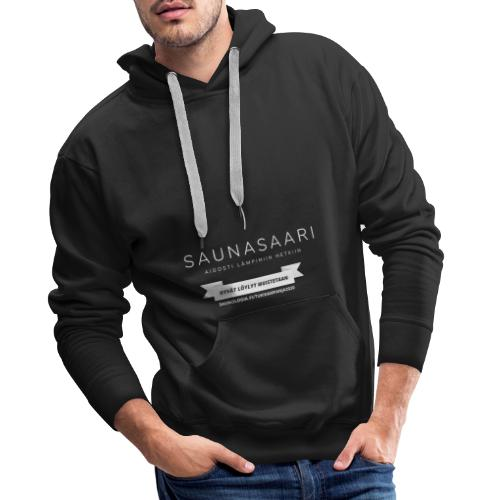 Saunasaari - musta - Miesten premium-huppari