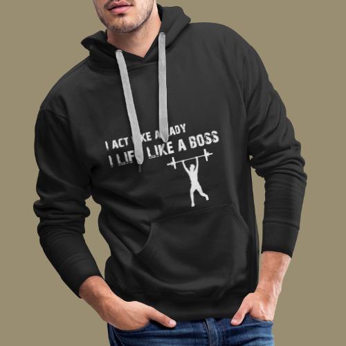 shirtsbydep act lift - Mannen Premium hoodie