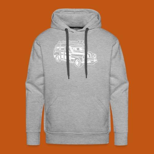 Chevy Cadilac Woodie / Oldtimer Kombi 01_weiß - Männer Premium Hoodie