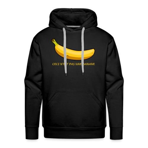 ceci n est pas une banane - Sweat-shirt à capuche Premium pour hommes