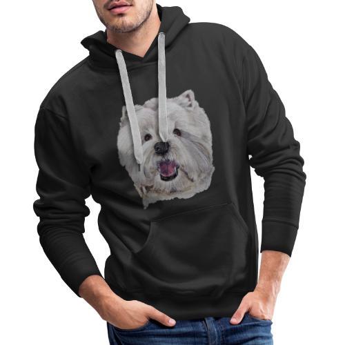 westhighland White terrier - Herre Premium hættetrøje