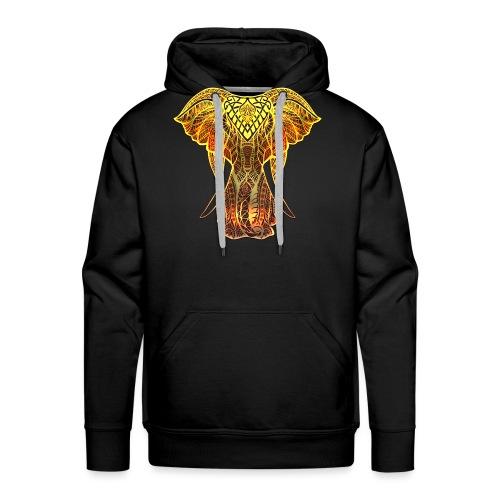Eléphant Feu - Sweat-shirt à capuche Premium pour hommes