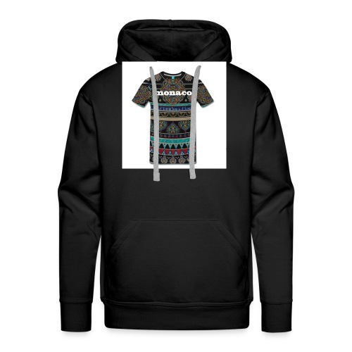 monaco mandala colores - Sudadera con capucha premium para hombre