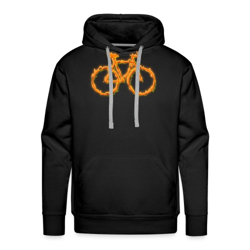 Fahrrad in Flammen - Männer Premium Hoodie