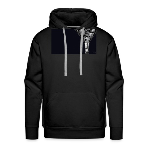 Cierre negro - Sudadera con capucha premium para hombre