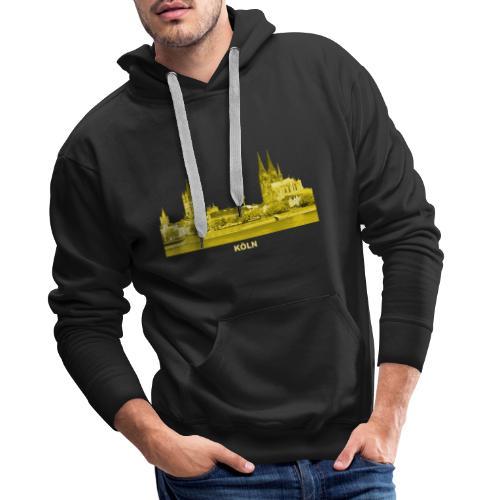 Köln Dom Rhein Nordrhein-Westfalen Deutschland - Männer Premium Hoodie