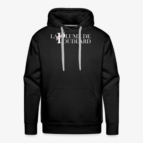 Logo large de La Plume de Poudlard - Sweat-shirt à capuche Premium pour hommes