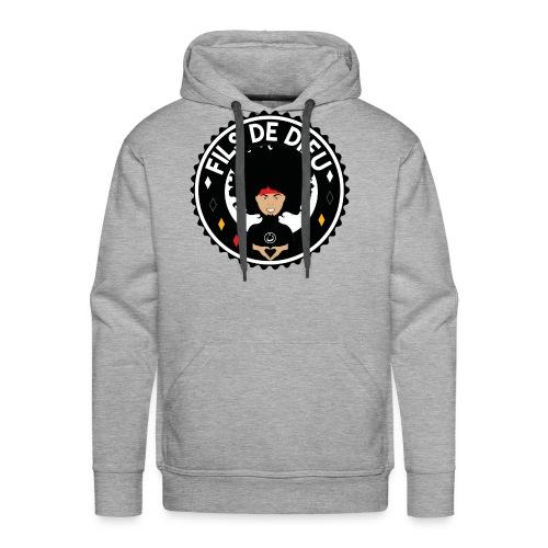 filsdeDieunoir - Sweat-shirt à capuche Premium pour hommes