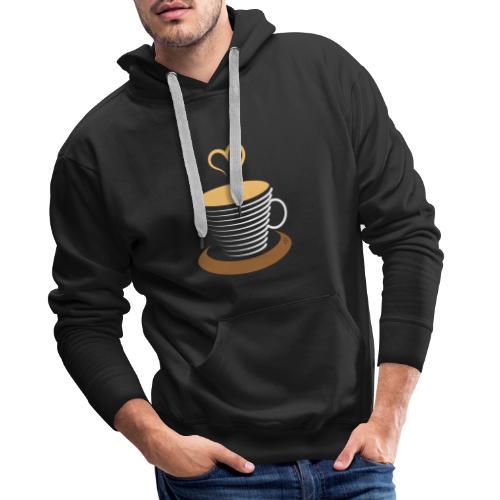 0252 Coffee   Love   Heart   Cup   coffee pot - Men's Premium Hoodie