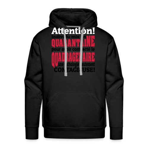 Motif logo design humour pour homme et femme - Sweat-shirt à capuche Premium pour hommes