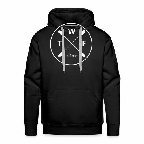 Weisses Logo gross - Männer Premium Hoodie