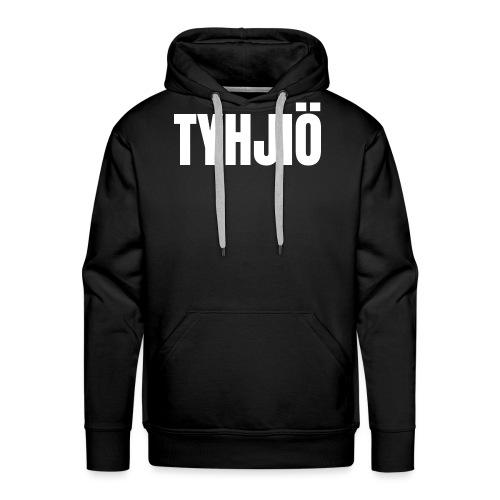 TYHJIÖ Logo White - Miesten premium-huppari