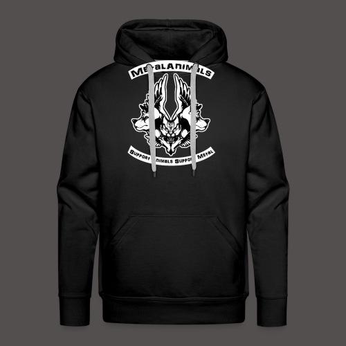 Logo Officiel MetalAnimals - Sweat-shirt à capuche Premium pour hommes