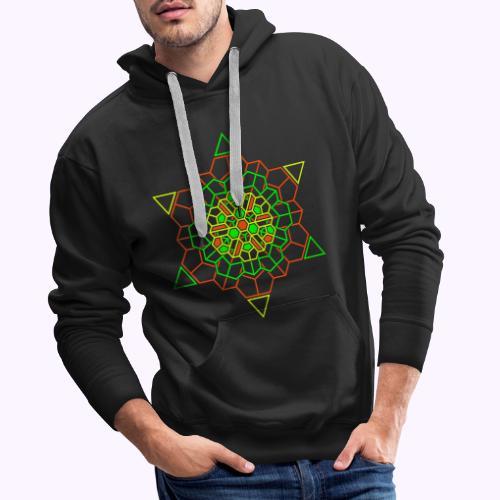 Cosmic Crystal Front - Sudadera con capucha premium para hombre