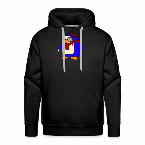 Cute Posh Crimson Red Penguin - Men's Premium Hoodie