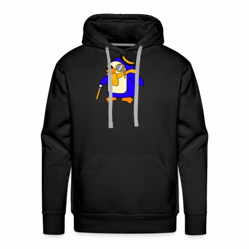 Cute Posh Sunny Yellow Penguin - Men's Premium Hoodie