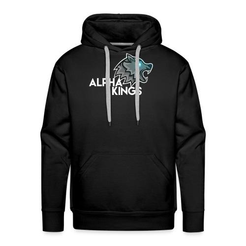logo Alpha Kings white - Sweat-shirt à capuche Premium pour hommes