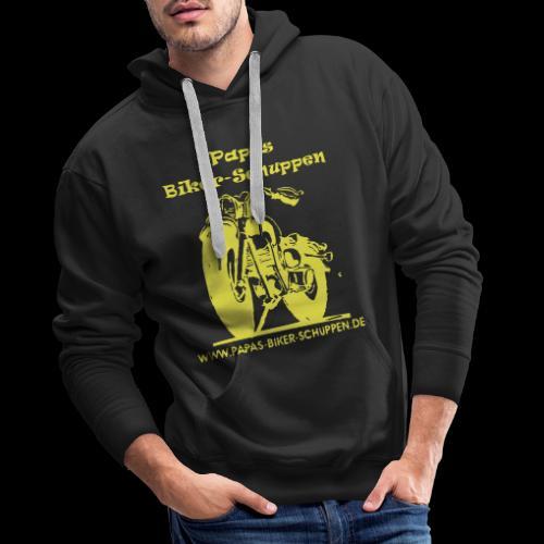 Papas Biker-Schuppen Logo Gelb - Männer Premium Hoodie