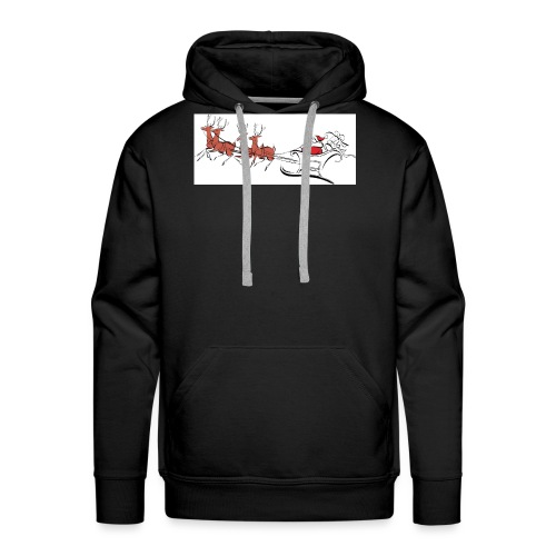 pictures-of-santa-and-reindeer-UDuZhz-clipart - Men's Premium Hoodie