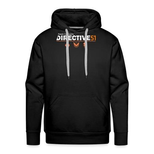 D51recy png - Sweat-shirt à capuche Premium pour hommes