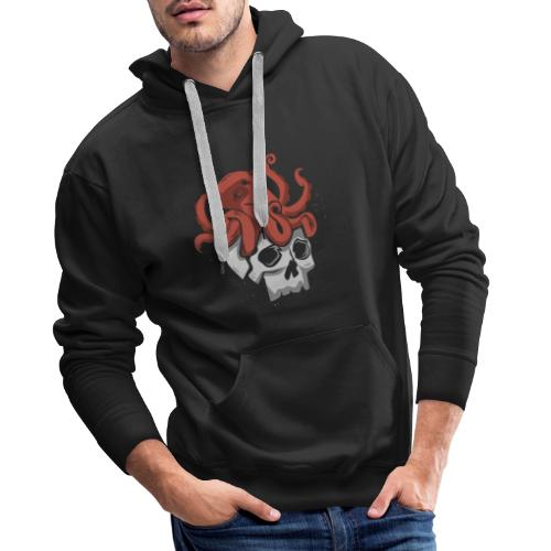 Skull and Octopus Heavy Metal Fans Novelty Gift - Men's Premium Hoodie
