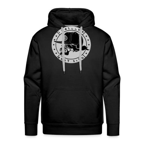 skull 13 milles noir et gris super design - Sweat-shirt à capuche Premium pour hommes