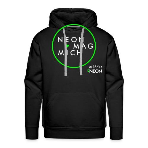 NEON MAG MICH - Männer Premium Hoodie