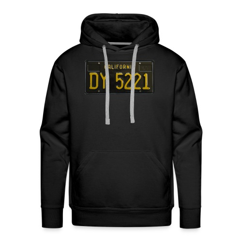CALIFORNIA BLACK LICENCE PLATE - Men's Premium Hoodie