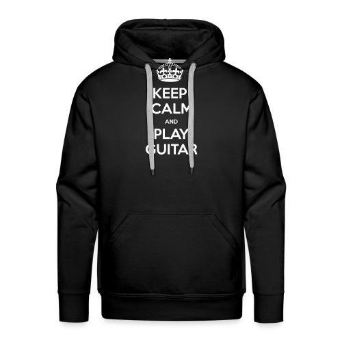Keep Calm And Play Guitar - Felpa con cappuccio premium da uomo