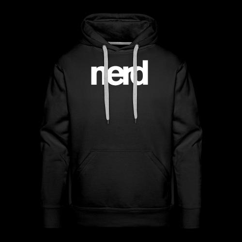 nerd - Sweat-shirt à capuche Premium pour hommes