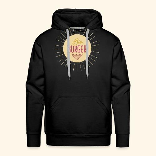 BIO BURGER - Logo - Männer Premium Hoodie