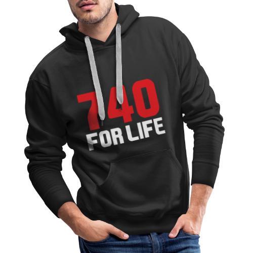 740 for life - Premiumluvtröja herr