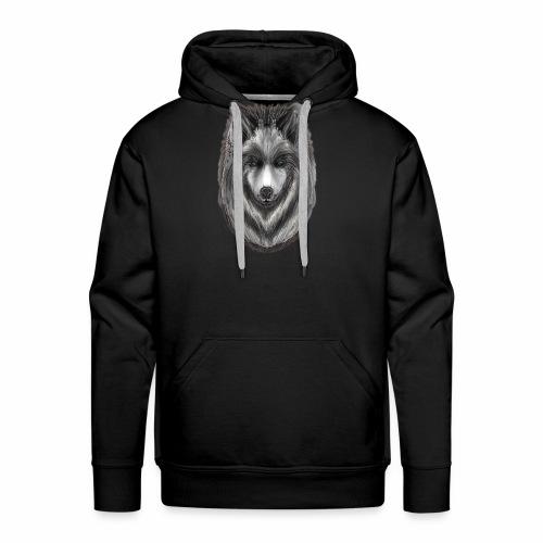 Foxy Wolf by Jon Ball - Men's Premium Hoodie