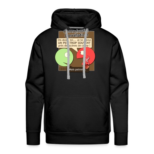 Commissaire Corrélation - Sweat-shirt à capuche Premium pour hommes
