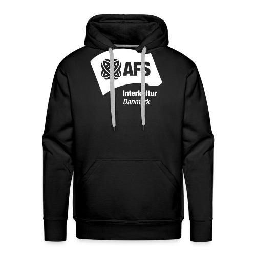 AFS hvidt logo lille - Herre Premium hættetrøje