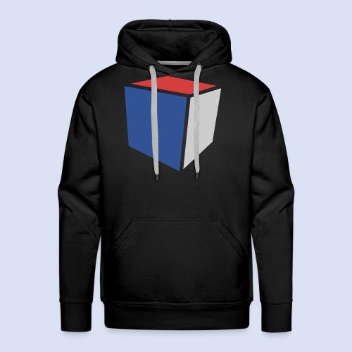 Cube Minimaliste - Sweat-shirt à capuche Premium pour hommes